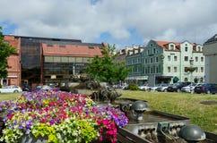 Brunnengegenteil des SalonShops von bernsteinfarbigem Autentic und von Hotel Staatsangehörigen Stockbild