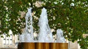 Brunnenwasser-Blasenfunktion stock footage