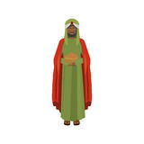 Brunnette wise man with offering Stock Image