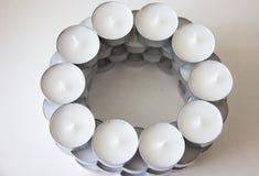 Brunnsort för design för teljusstearinljus Fotografering för Bildbyråer