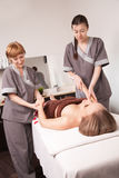 brunnsort för handmassagesalong royaltyfri bild