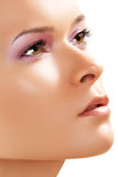 brunnsort för hud för framsida för skönhetomsorgsclose upp wellness Arkivbilder