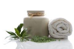 brunnsort för ny olivgrön för badfilial salt Royaltyfria Bilder