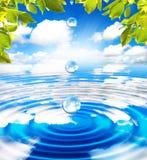 brunnsortvatten Fotografering för Bildbyråer