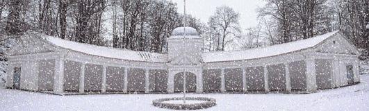 Brunnspaviljongen in Winter Stock Photo