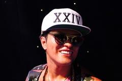 Bruno Mars, Wachsmuseum Madame Tussauds lizenzfreie stockfotos