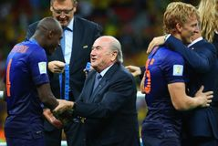 Bruno Martins Indi and Sep Blatter Coupe du monde 2014 Stock Photo