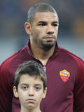 Bruno Peres. Bruno da Silva Peres, player of AS Roma, pictured before the Europa League match against Astra Giurgiu, 0-0 the final score Royalty Free Stock Photos