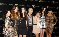 Bruno Schiavi, Khloe Kardashian, Kylie Jenner, Kris Jenner, Kourtney Kardashian, Kim Kardashian och Kendall Jenner Royaltyfri Bild