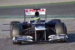 Bruno Senna av Williams F1 Arkivbild