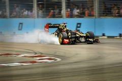 Bruno Senna, Lotus Renault GP R31. in Singapore F1 royalty-vrije stock fotografie