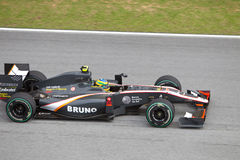 Bruno Senna at the Malaysian F1 Stock Images