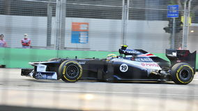 Bruno Senna racing in Singapore F1 2012 Stock Photography