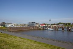 Brunsbuettel - Lockage to Kiel Canal (Nord-Ostsee-Canal) Royalty Free Stock Photo