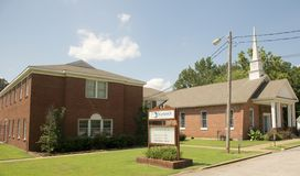 Brunswick Baptist Church Wide-Angle, Bartlett, TN imagen de archivo