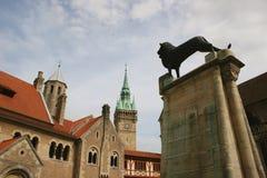 Brunswick Burglöwe Foto de archivo libre de regalías