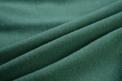Brunswick green cloth made by cotton fiber Royalty Free Stock Photography