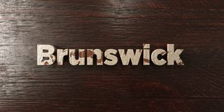 Brunswick - grungy wooden headline on Maple  - 3D rendered royalty free stock image Royalty Free Stock Images
