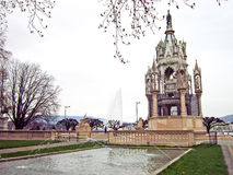 Brunswick Monument, Geneve, Switzerland. The fountain in front of Brunswick Monument, Geneve, Switzerland Stock Photo