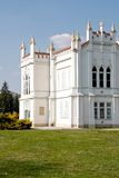 Brunszvik Mansion. (kastely), Martonvasar Built from 1773 to 1775, the Baroque mansion was reconstructed in the early 1870's in an English neo-Gothic style Stock Photography