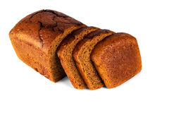 Brunt bröd på vitbakgrund royaltyfria bilder