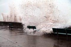 Brunt do furacão Irene imagem de stock