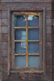 Brunt fönster Royaltyfri Foto