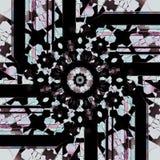 Brunt för akvamarin för rund prydnadsvart rosa purpurfärgad Fotografering för Bildbyråer