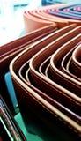 Brunt för läder för budget för plånbokpengarbesparing Fotografering för Bildbyråer