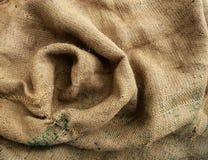 Brunt för säcktexturbakgrund som vävas Fotografering för Bildbyråer
