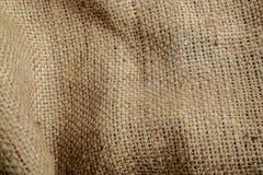 Brunt för säcktexturbakgrund som vävas, närbild Royaltyfria Bilder