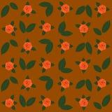 Brunt för vektor för rosa orange sidor för modellflora grön Royaltyfri Fotografi