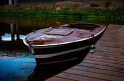 Brunt fartyg royaltyfria foton