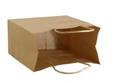 brunt gåvapapper för påse Arkivfoton
