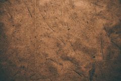 Brunt grovt tappningpapper Abstrakt bakgrund och textur för formgivare Gammal tappning återanvänt papper Grovt tappningpapper för Arkivbild