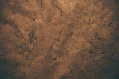 Brunt grovt tappningpapper Abstrakt bakgrund och textur för formgivare Gammal tappning återanvänt papper Grovt tappningpapper för Royaltyfri Bild