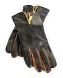 brunt handskeläder Royaltyfri Fotografi