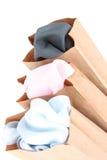brunt kläderpapper för påsar Royaltyfria Bilder