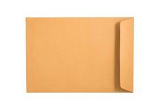 Brunt kuvert som isoleras på en vit bakgrund Snabba banor in Royaltyfria Bilder
