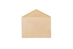 Brunt kuvert som isoleras på vit bakgrund Royaltyfri Fotografi