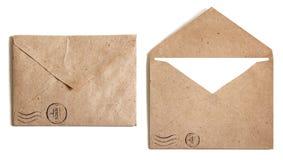 Brunt kuvert två Arkivbilder