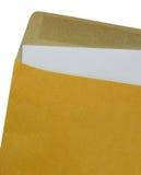 Brunt kuvertdokument på en vit bakgrund Royaltyfri Bild
