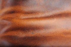brunt läder royaltyfri fotografi