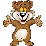 brunt lyckligt för björn royaltyfri illustrationer