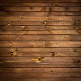 Brunt målad wood vägg Arkivfoto