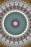 brunt med den runda prydnaden för blått och för gräsplan royaltyfri illustrationer