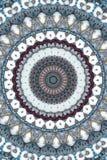 brunt med den runda prydnaden för blått och för gräsplan vektor illustrationer
