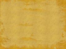 Brunt och guld bedrövad pappers- texturbakgrund Arkivfoto