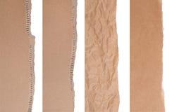 brunt papppapper för kanter Arkivfoto