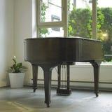 Brunt piano Arkivbilder